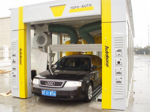 High Speed Car Wash System TEPO-AUTO Tunnel For Vehicle Cleaning