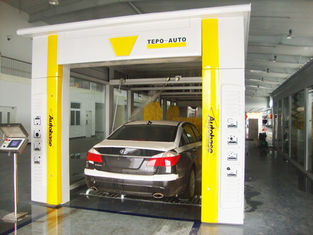Chiny Yellow Tunnel Car Washing Equipment Effectively , High Pressure Spray Systems dostawca