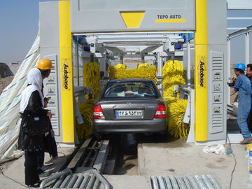 Chiny Steel Tunnel Car Washing Machine , TEPO-AUTO Automatic Car Washer dostawca