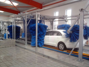 Chiny Tunnel Car Wash Systems With Three Color Wax Spraying , Innovation Mode dostawca